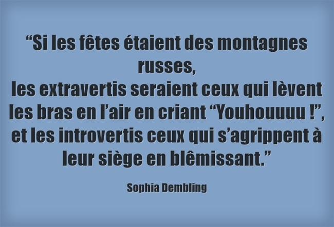 Sophia Dembling - Les fetes et les introvertis